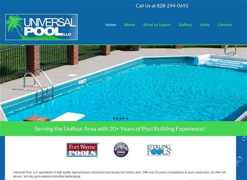 Swimming Pool Website Design pool website design Universal Pool