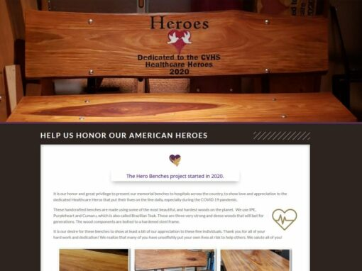 Hero Benches Project NC