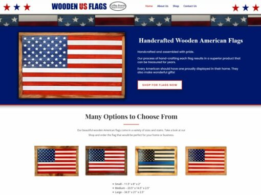Wooden US Flags